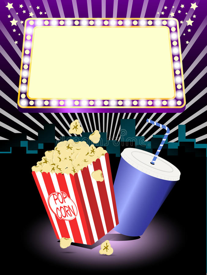 Free Cinema Popcorn And Soda Stock Images - 24185484