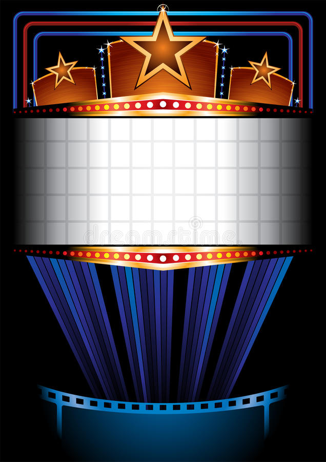 Cinema poster royalty free illustration