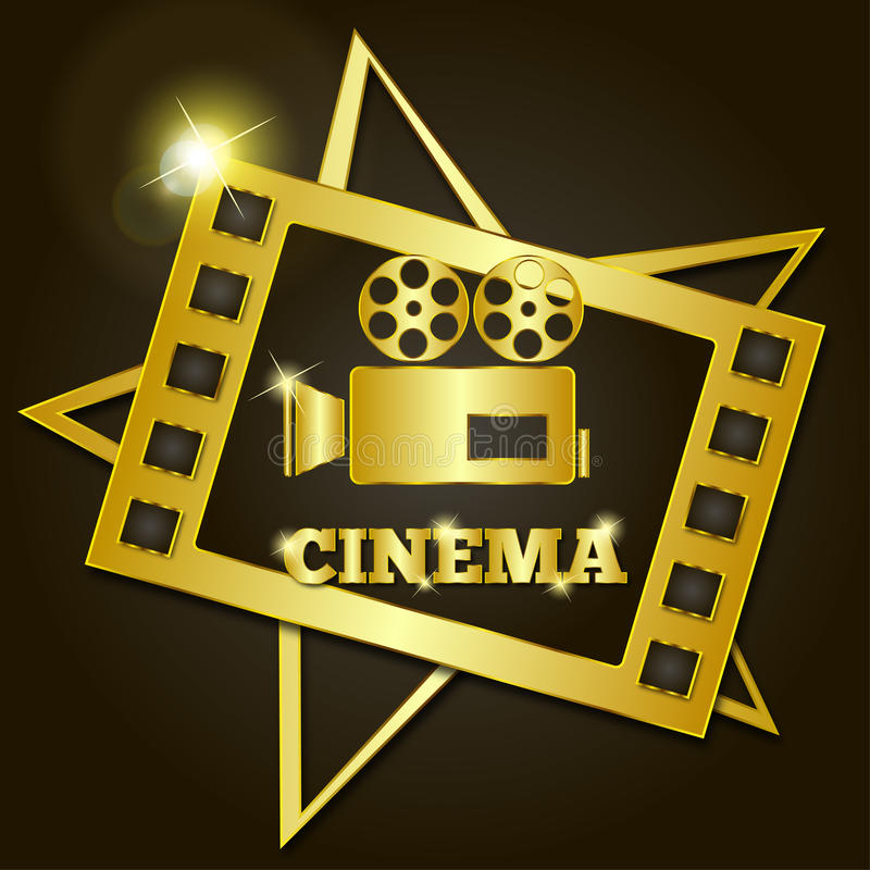Download Cinema retro dourado ilustração do vetor. Ilustração de entertainment - 65577050