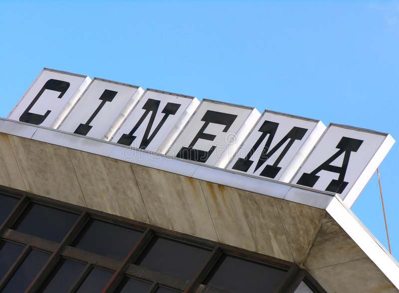 Cinema Roof stock photography