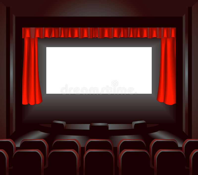 Cinema screen stock illustration