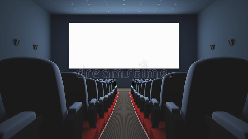 Download Cinema Screen stock illustration. Image of screen, chair - 32799266