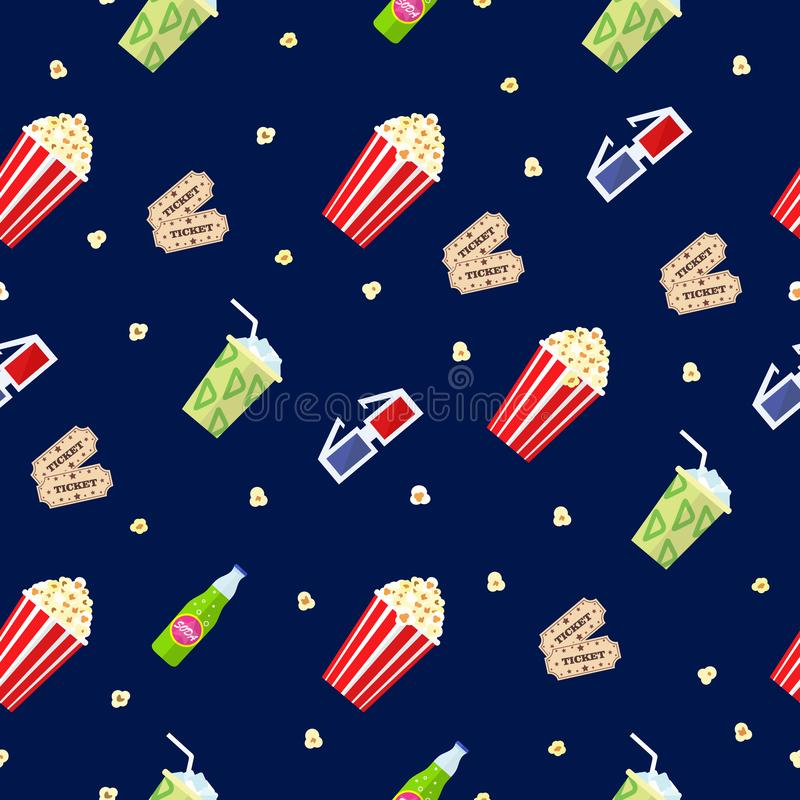 Cinema seamless pattern vector stock images
