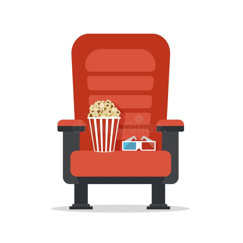 Cinema Seat, Isolated On White Stock Vector - Illustration ...
