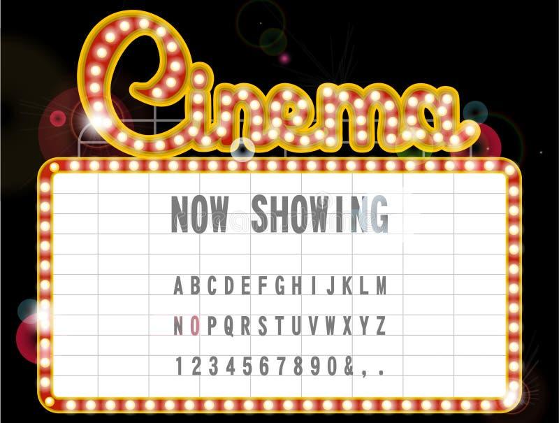 Cinema sign. Vector illustration background royalty free illustration