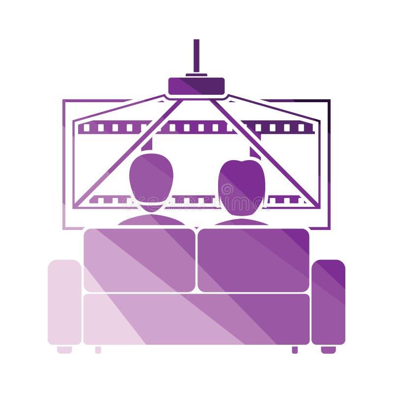 Cinema sofa icon. Flat color design. Vector illustration vector illustration