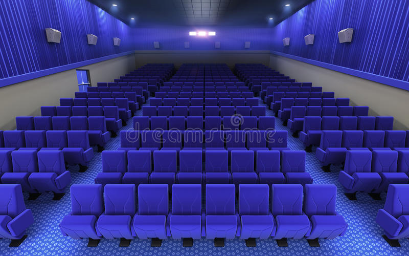 Cinema stage seats royalty free illustration