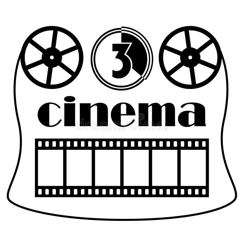 Cinema symbol. Illustration for the web stock illustration