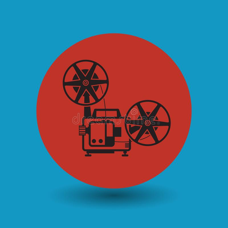 Cinema symbol or symbol. Cinema symbol abstract sign, vector illustration vector illustration