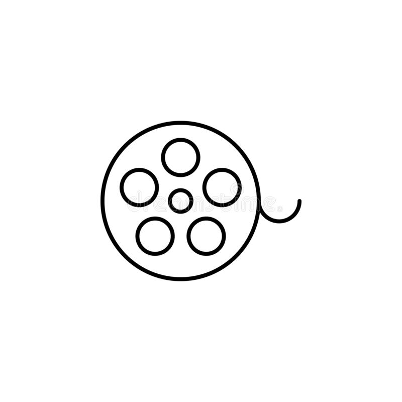 cinema tape icon. Simple thin line, outline vector of movie, cinema, film, screen, flicks icons for UI and UX, website or mobile royalty free illustration
