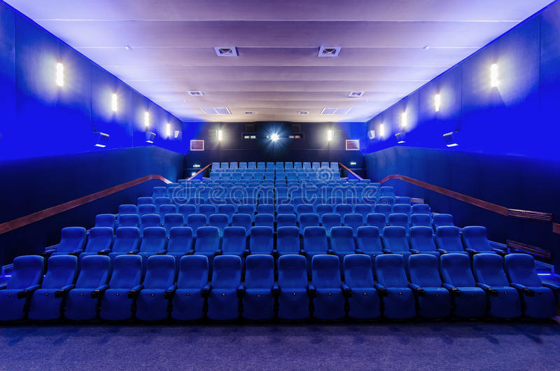 In the cinema theater royalty free stock image