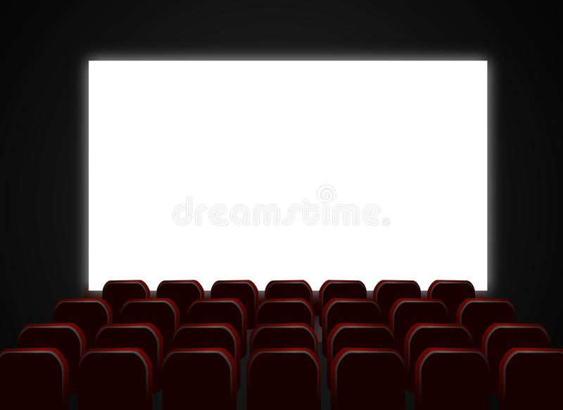 Download Cinema Theatre Screen And Chairs Stock Vector - Image: 14021933