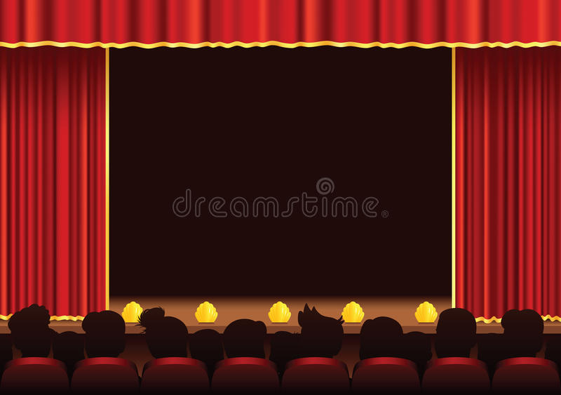 Cinema and theatre stage area royalty free illustration