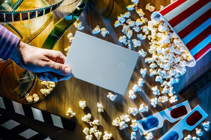 Cinema ticket stock images