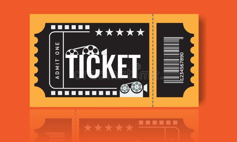 Cinema Ticket Sample Template Design. Trendy Vector. Stock Vector ...