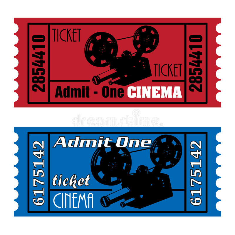 Download Cinema tickets stock vector. Image of cinematographic - 12384766