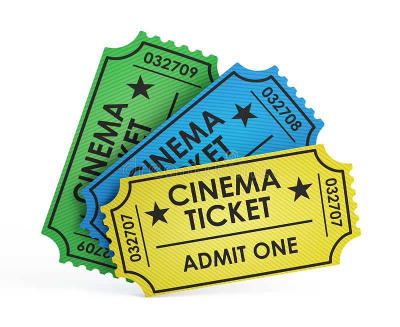 Cinema tickets. On white background royalty free illustration