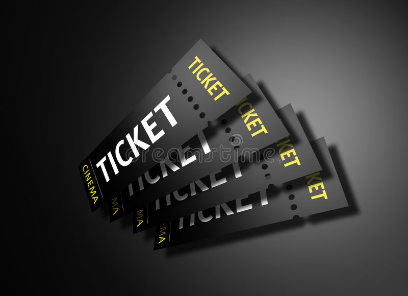 Download Cinema Tickets stock illustration. Image of industry, concert - 7588152