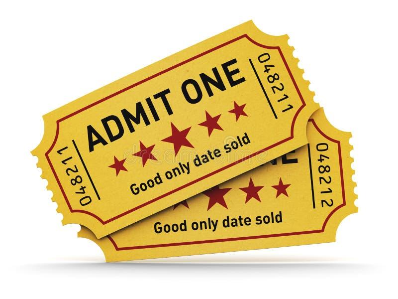Download Cinema tickets stock illustration. Image of amusement - 32753340