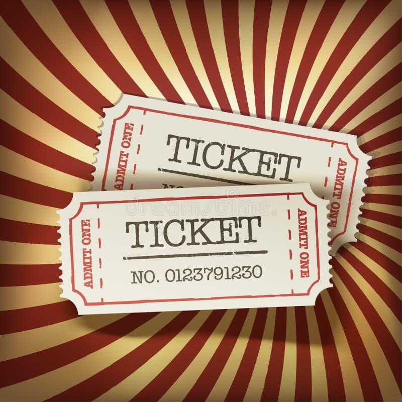 Download Cinema Tickets On Retro Rays Background Stock Illustration - Image: 30154428