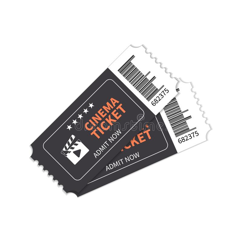 Cinema tickets for the show. stock illustration