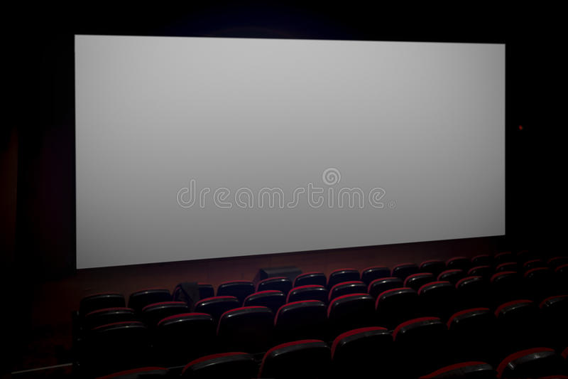 Cinema vazio imagens de stock royalty free