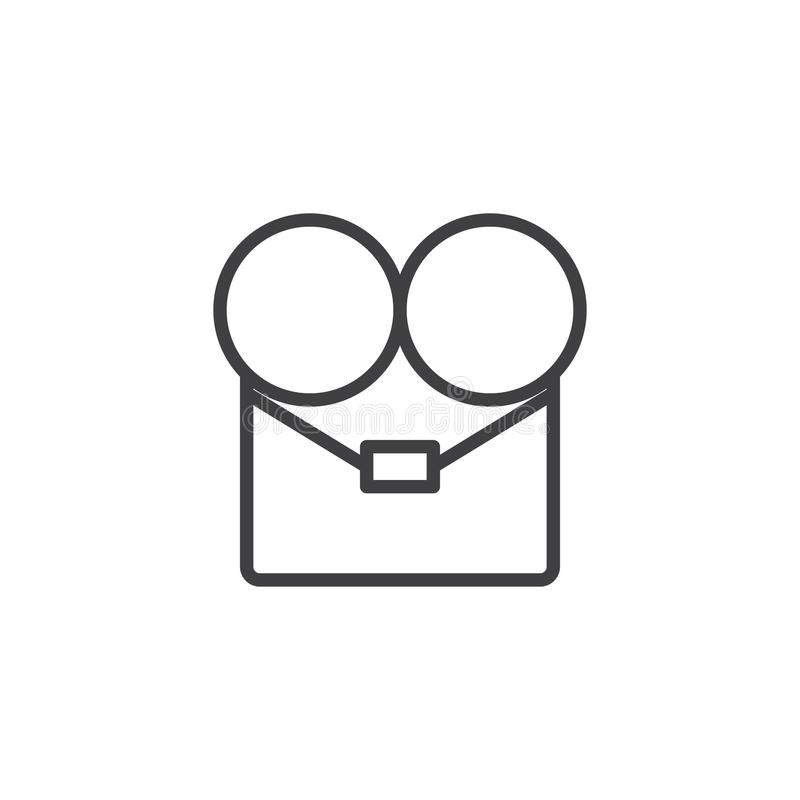 Cinema video camera outline icon stock illustration