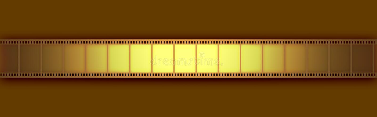 Cinema Video Film. 3D with light effect royalty free illustration