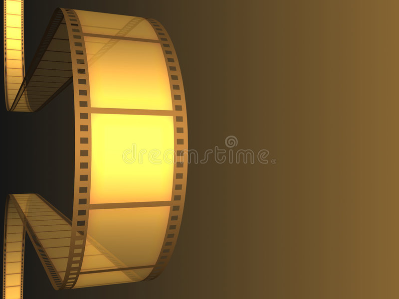 Cinema Video Film. 3D with light effect stock illustration
