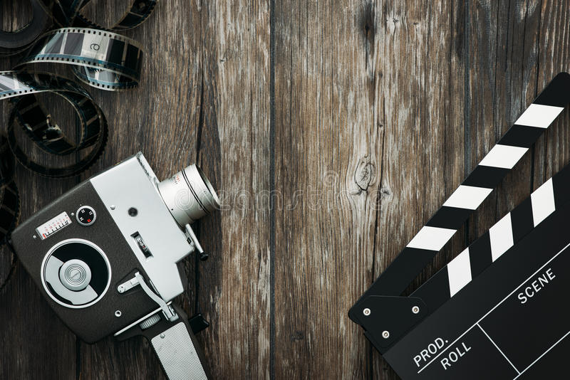 Cinema and videomaking royalty free stock photography