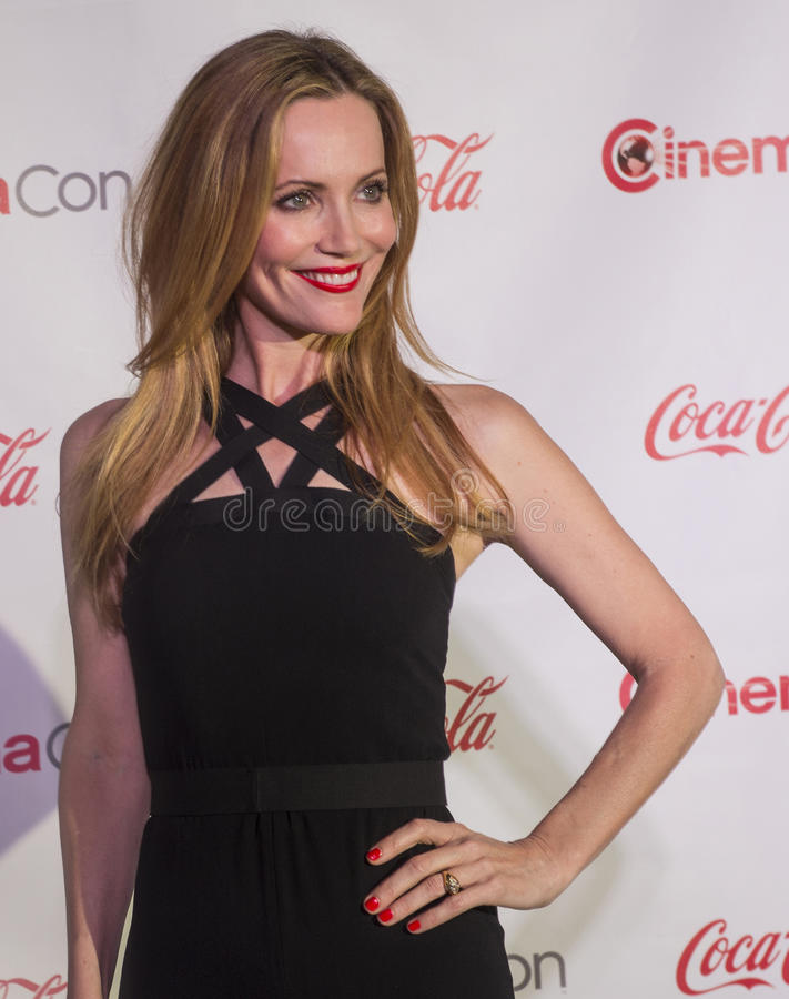 CinemaCon 2014 - The Big Screen Achievement Awards. LAS VEGAS - MARCH 27: Comedy Star of the Year award winner, actress Leslie Mann arrives at The CinemaCon Big royalty free stock images