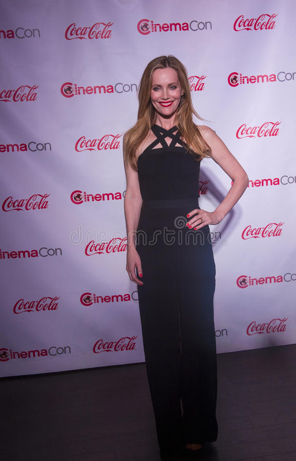 CinemaCon 2014 - The Big Screen Achievement Awards. LAS VEGAS - MARCH 27: Comedy Star of the Year award winner, actress Leslie Mann arrives at The CinemaCon Big stock photos