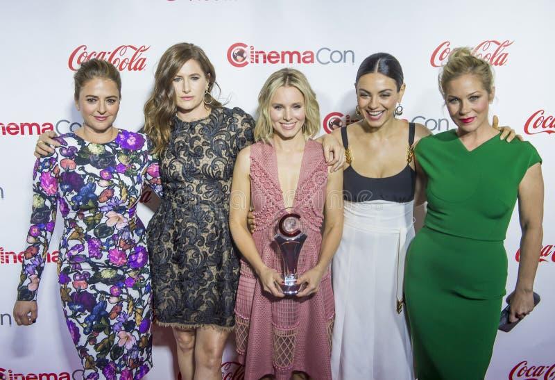 CinemaCon 2016 - les grands prix à la réussite d'écran photo stock