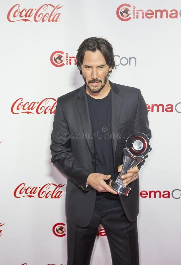 CinemaCon 2016 - os prêmios de mérito grandes da tela fotos de stock royalty free