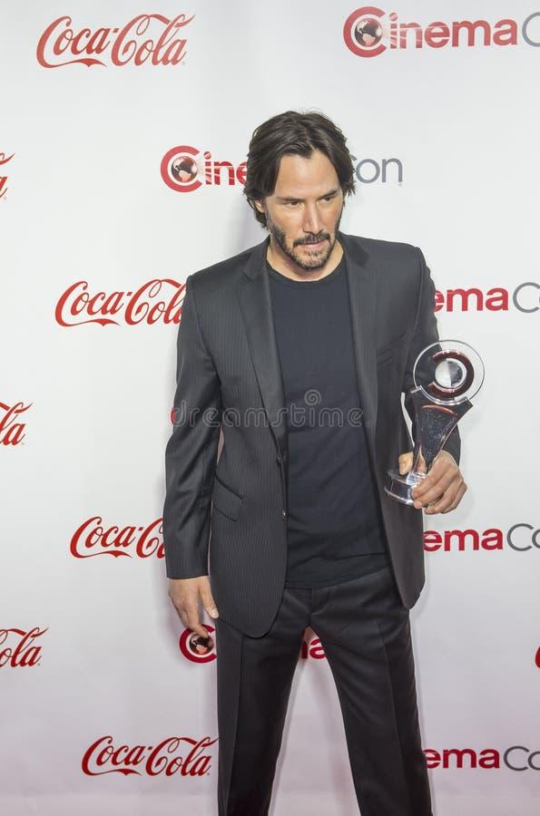 CinemaCon 2016 - os prêmios de mérito grandes da tela foto de stock