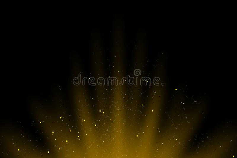 Cinematic dust overlay, abstract bokeh background, bokeh overlay, blurred lights, blurred dust stock illustration