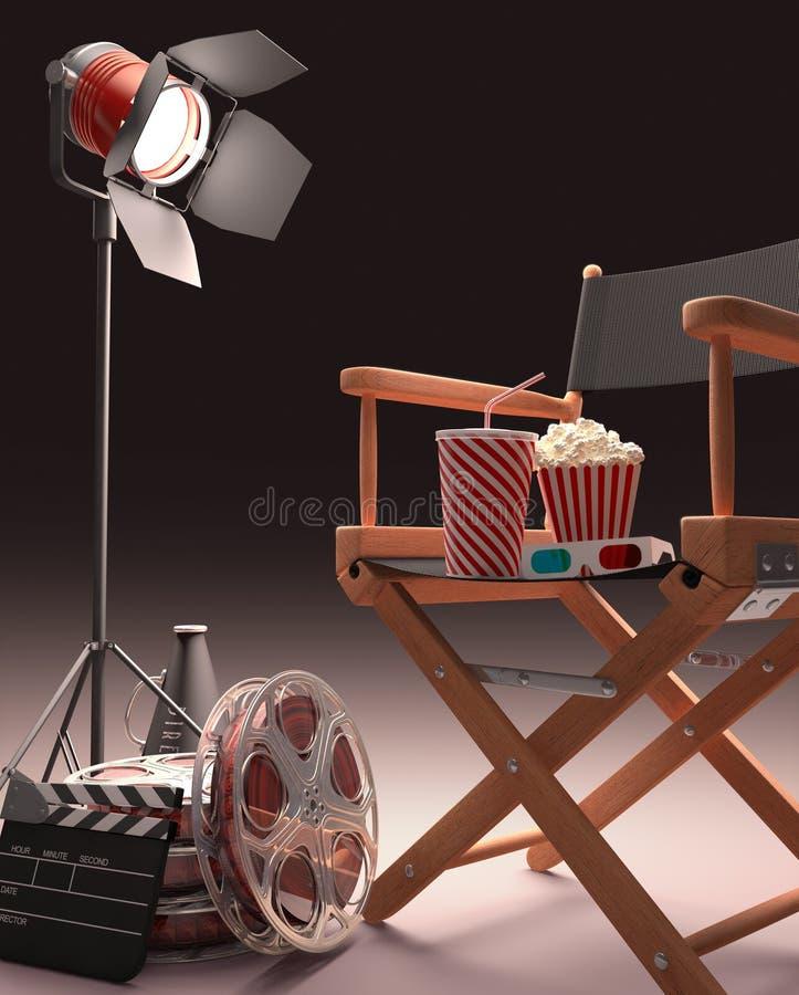 Cinematic Studio royalty free illustration