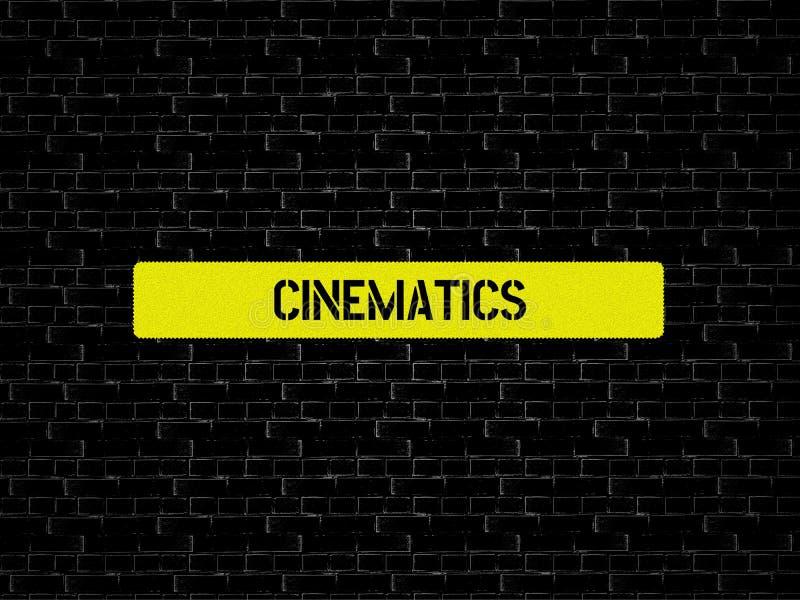 CINEMATICS - εικόνα με τις λέξεις που συνδέονται με τον ΚΙΝΗΜΑΤΟΓΡΑΦΟ θέματος, λέξη, εικόνα, απεικόνιση διανυσματική απεικόνιση