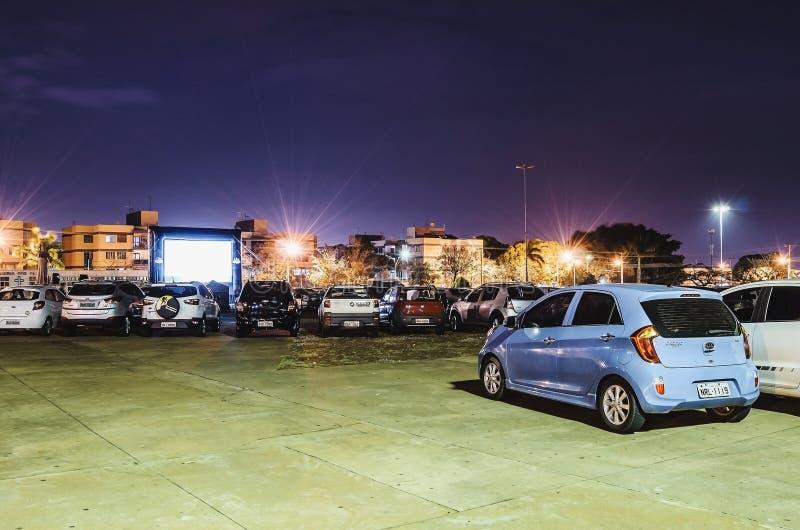 Cinematografia Autorama em Campo grandioso - o MS em Praca faz a papá imagem de stock