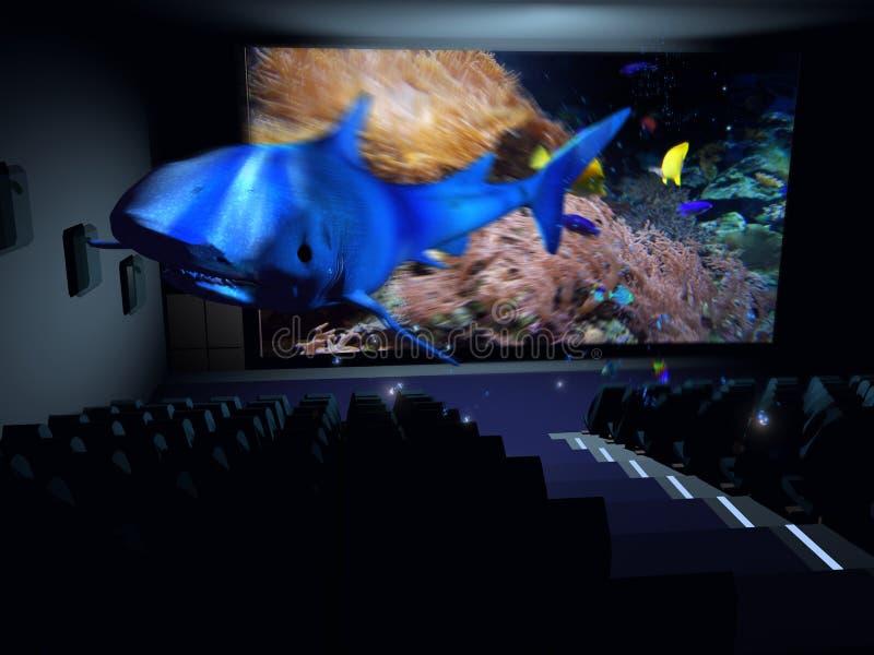 cinematografo 3D illustrazione di stock