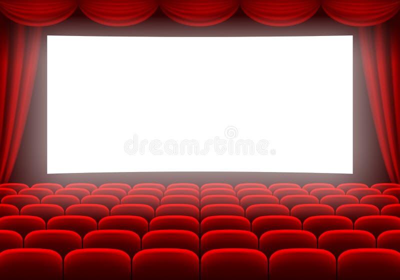 Cinematografo Corridoio illustrazione di stock
