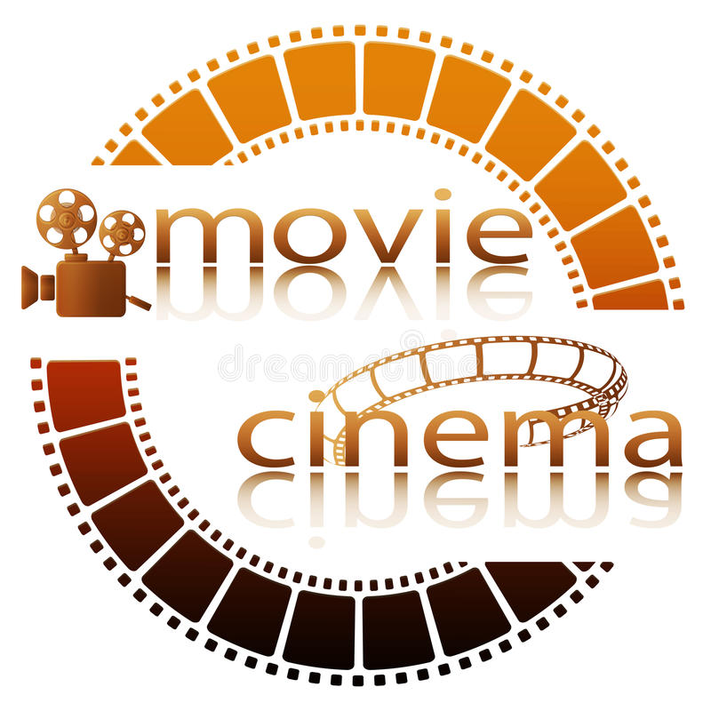 Cinematografo di film illustrazione di stock