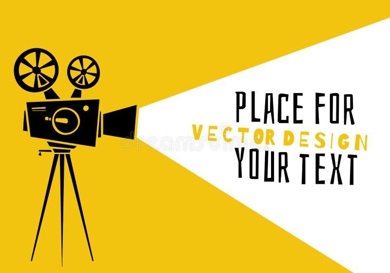cinematografo Film della siluetta illustrazione vettoriale