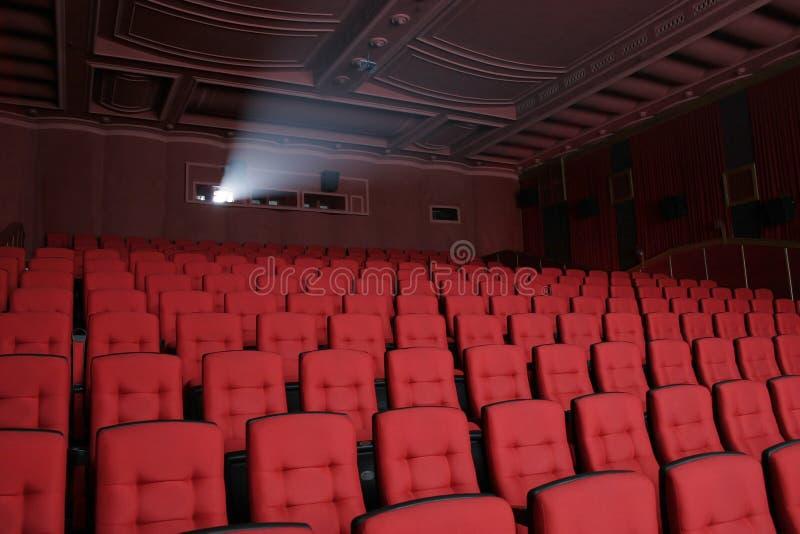 Cinematografo vuoto della sala del teatro immagine stock