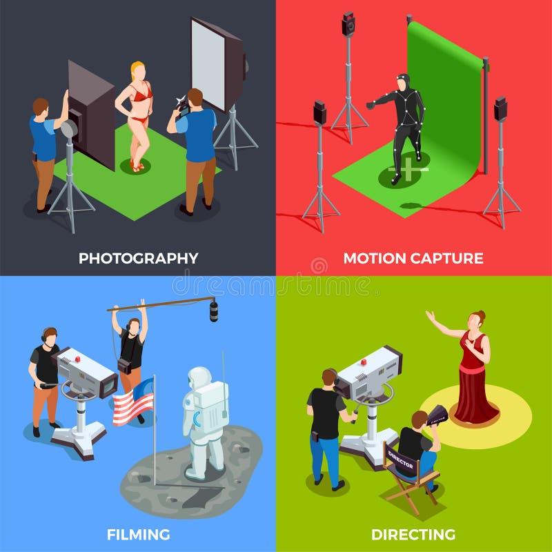Cinematograph 2x2 έννοια σχεδίου ελεύθερη απεικόνιση δικαιώματος