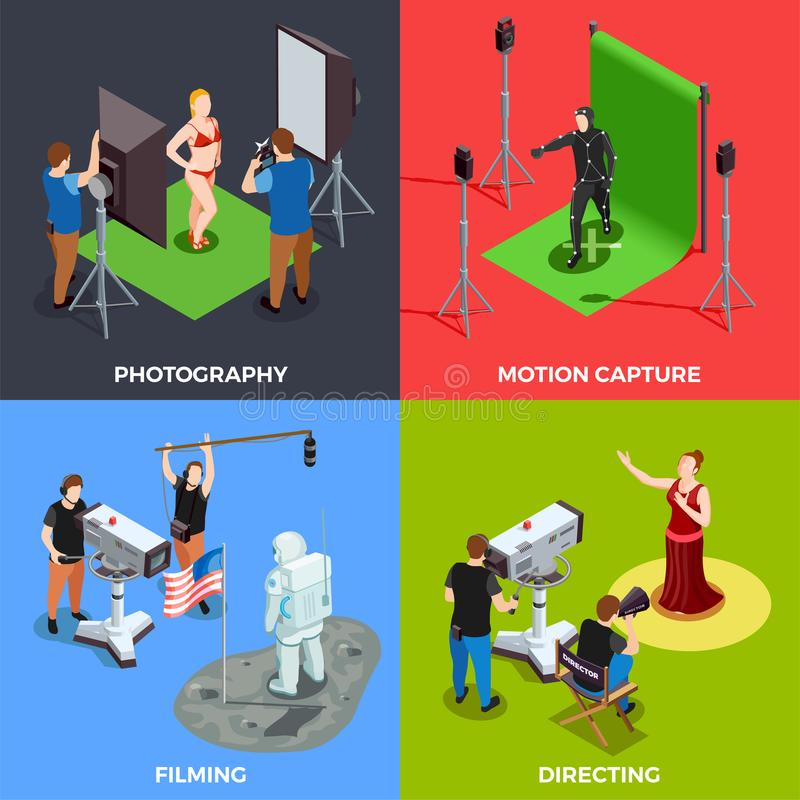 Cinematograph 2x2 Design Concept royalty free illustration