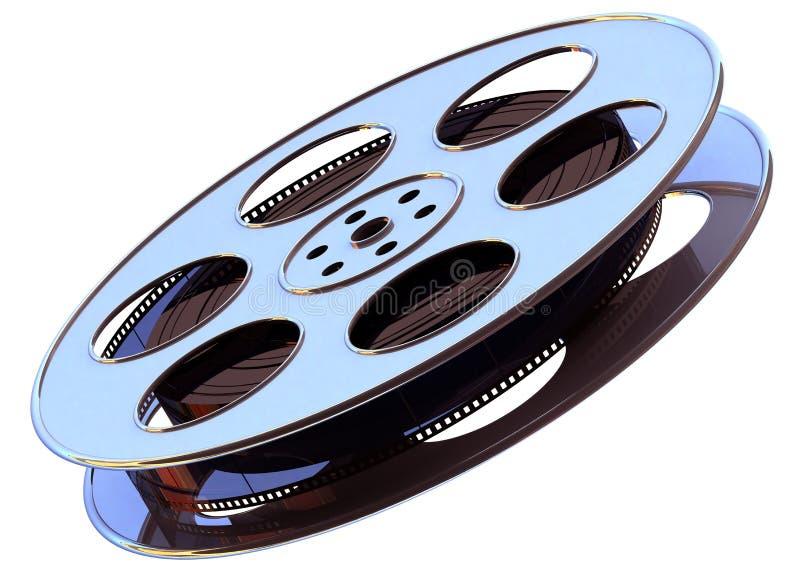 cinematographic rulle för begreppsfilmindustri stock illustrationer