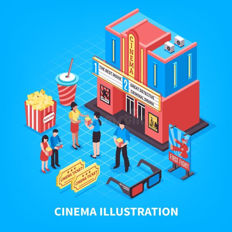 Cinematography Isometric Design Concept vector illustration