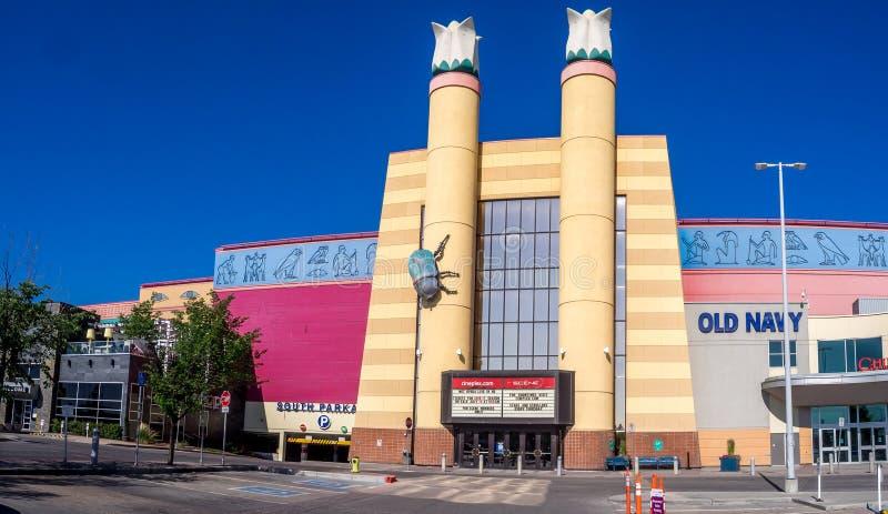 cineplex movie theatre at chinook centre mall editorial. Black Bedroom Furniture Sets. Home Design Ideas
