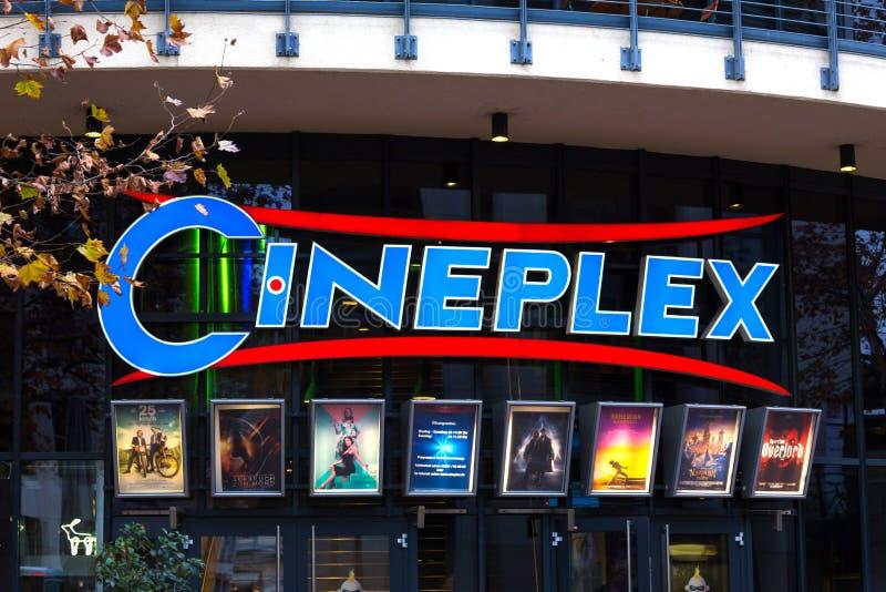 Cineplexteken in siegburg Duitsland royalty-vrije stock afbeelding